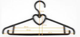 Вешалка-плечики Блузочная 5 крючок поворотный платиковая